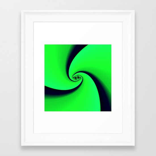 Black and Green  Framed Art Print