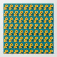Marigold Repeat Canvas Print