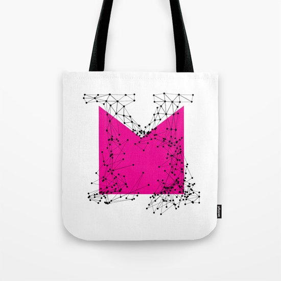 M (abstract geometrical type) Tote Bag