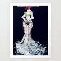 Lady frog Art Print