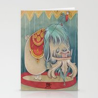 DANCING SCAREDY MONSTER Stationery Cards