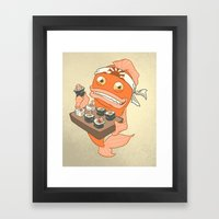Sushi Fish 2 Framed Art Print
