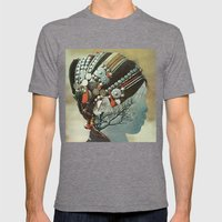 capillaries Mens Fitted Tee Tri-Grey SMALL