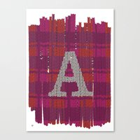 Winter clothes. Letter A III. Canvas Print