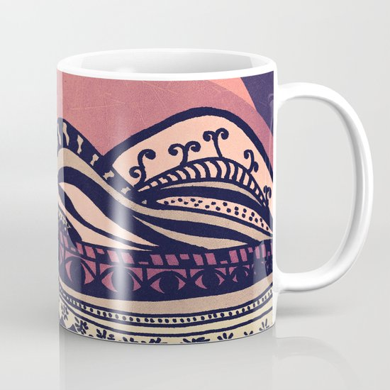Psychedelic mountains (colour option) Mug