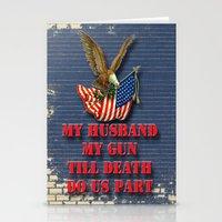 My Husband My Gun Stationery Cards