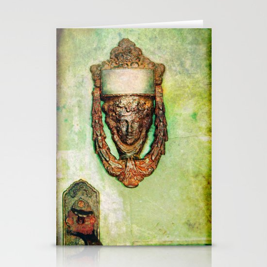 Brass Knocker Stationery Card