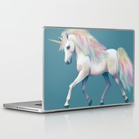 unicorn Laptop & iPad Skins featuring Unicorn by ShannonPosedenti