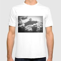 Snow Black and White Mens Fitted Tee White SMALL