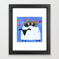 WOOL FLOWER Framed Art Print