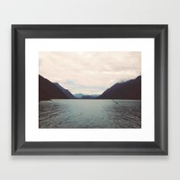 Alouette Lake Framed Art Print