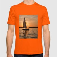 Sail Into The Sunset Mens Fitted Tee Orange SMALL