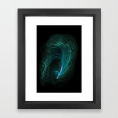 Designer feather Framed Art Print