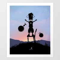 Galactu s Kid Art Print