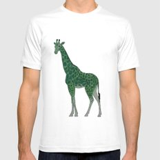 Giraffe is for Green Mens Fitted Tee White SMALL