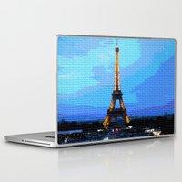 eiffel Laptop & iPad Skins featuring Eiffel by osile ignacio