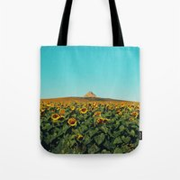 Sunflower Scene Tote Bag