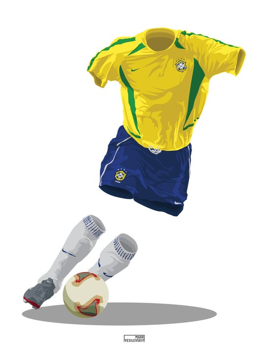 Brazil 2002 - World Cup Winners Canvas Print