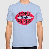 More Than Words Mens Fitted Tee Tri-Blue SMALL
