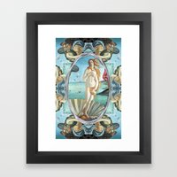 The Birth of Venus (If Botticelli would have had an i-phone!) Framed Art Print