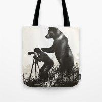 The Bear Encounter II Tote Bag