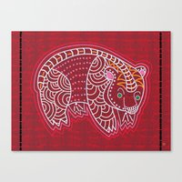 Aboriginal Bear Canvas Print