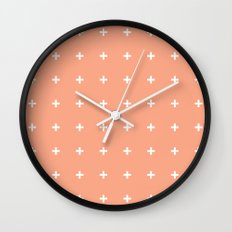Peach Cross // Peach Plus Wall Clock