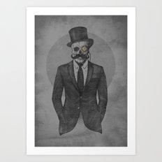 A Gentleman & A Skullar Art Print