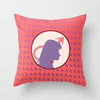 Sailor Mars Throw Pillow
