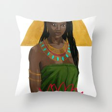 Egyptian Lotus Throw Pillow