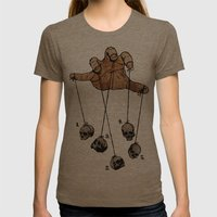 The Five Dancing Skulls Of Doom Womens Fitted Tee Tri-Coffee SMALL