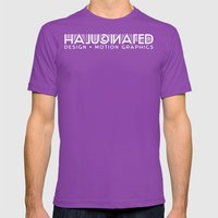 Halucinated Design + Mot… Mens Fitted Tee Ultraviolet SMALL