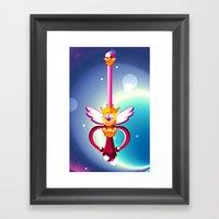 Moon Wand Framed Art Print