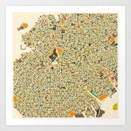 Brooklyn Map Art Print
