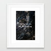 Everything Starts From A… Framed Art Print