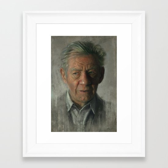Sir Ian Mckellen Framed Art Print