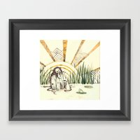 River Lady - Coloured Framed Art Print