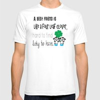 A best friend is Mens Fitted Tee White SMALL