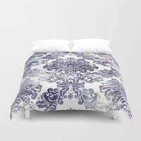 Blueberry Damask Duvet Cover