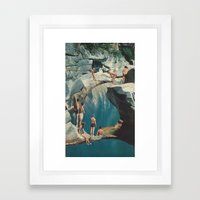 Standing At The Sea (wit… Framed Art Print