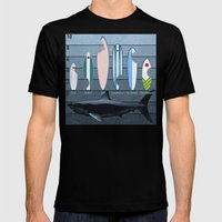 Shark Week - A balanced diet is essential  Mens Fitted Tee Black SMALL