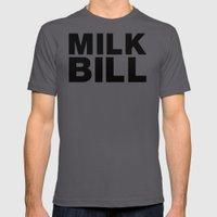 MILK BILL Mens Fitted Tee Asphalt SMALL