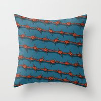 Barb Wire Throw Pillow