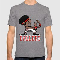 Ballers Mens Fitted Tee Tri-Grey SMALL