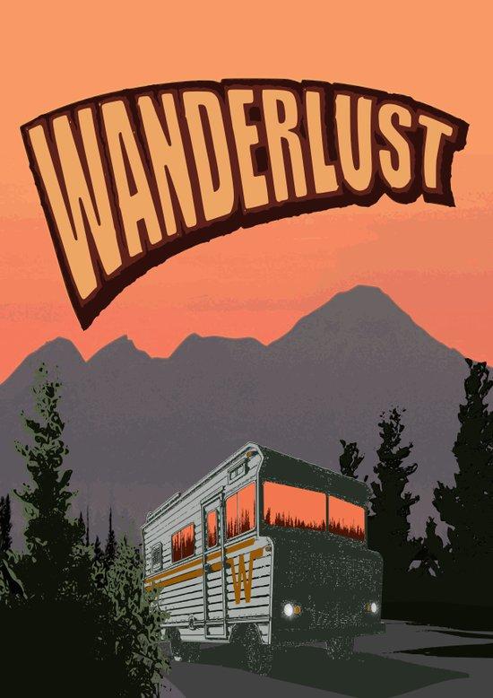 Wanderlust Travel Poster Canvas Print