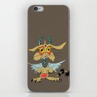 Evil Flying Feline Jackalope  iPhone & iPod Skin