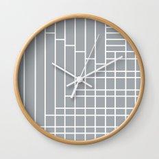 Fuzz Outline Grey Wall Clock