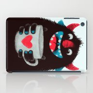 Demon With A Cup Of Coff… iPad Case