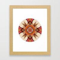 Mandala Crest Framed Art Print