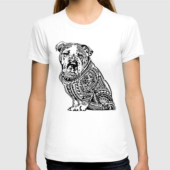 Polynesian english bulldog t shirt by huebucket society6 T shirts for english bulldogs